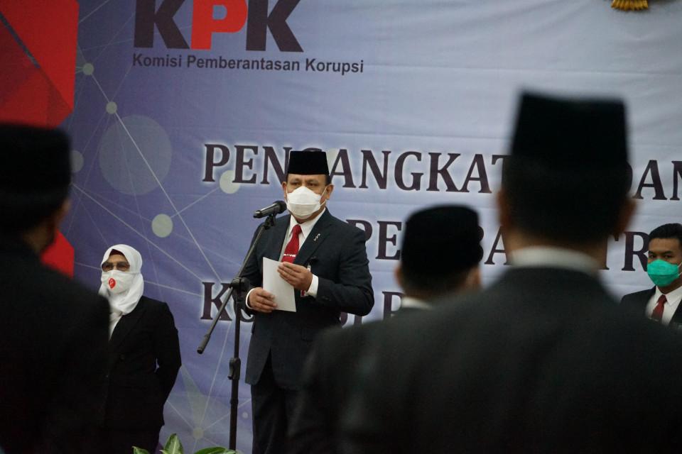 Pelantikan 37 pejabatn KPK